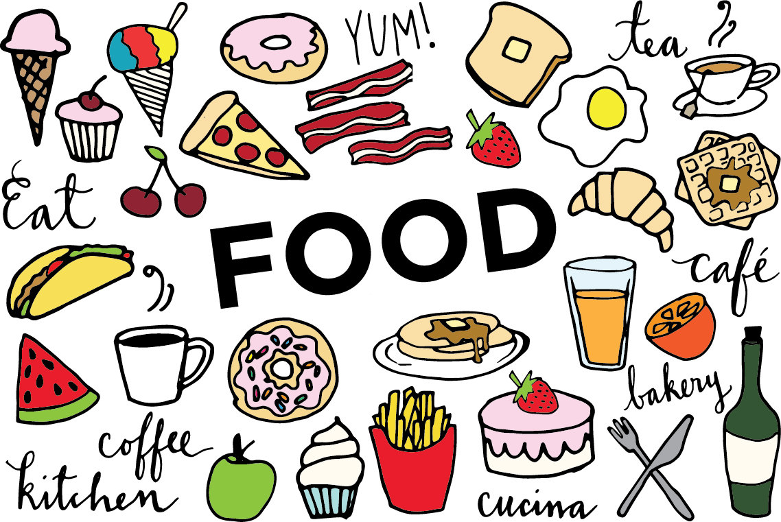 World clip art library. Free pictures of food clipart