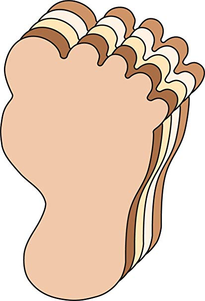 Foot cut clipart jpg SHAPES ETC. Foot Large Multicultural Creative Cut-Outs, 5.5\