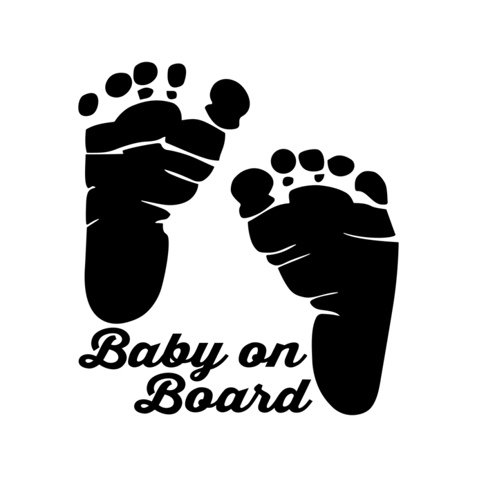 Foot cut clipart clip free library Baby On Board Feet Foot graphics design SVG DXF PNG Vector Art Clipart  instant download Digital Cut Print Files Cricut Silhouette clip free library