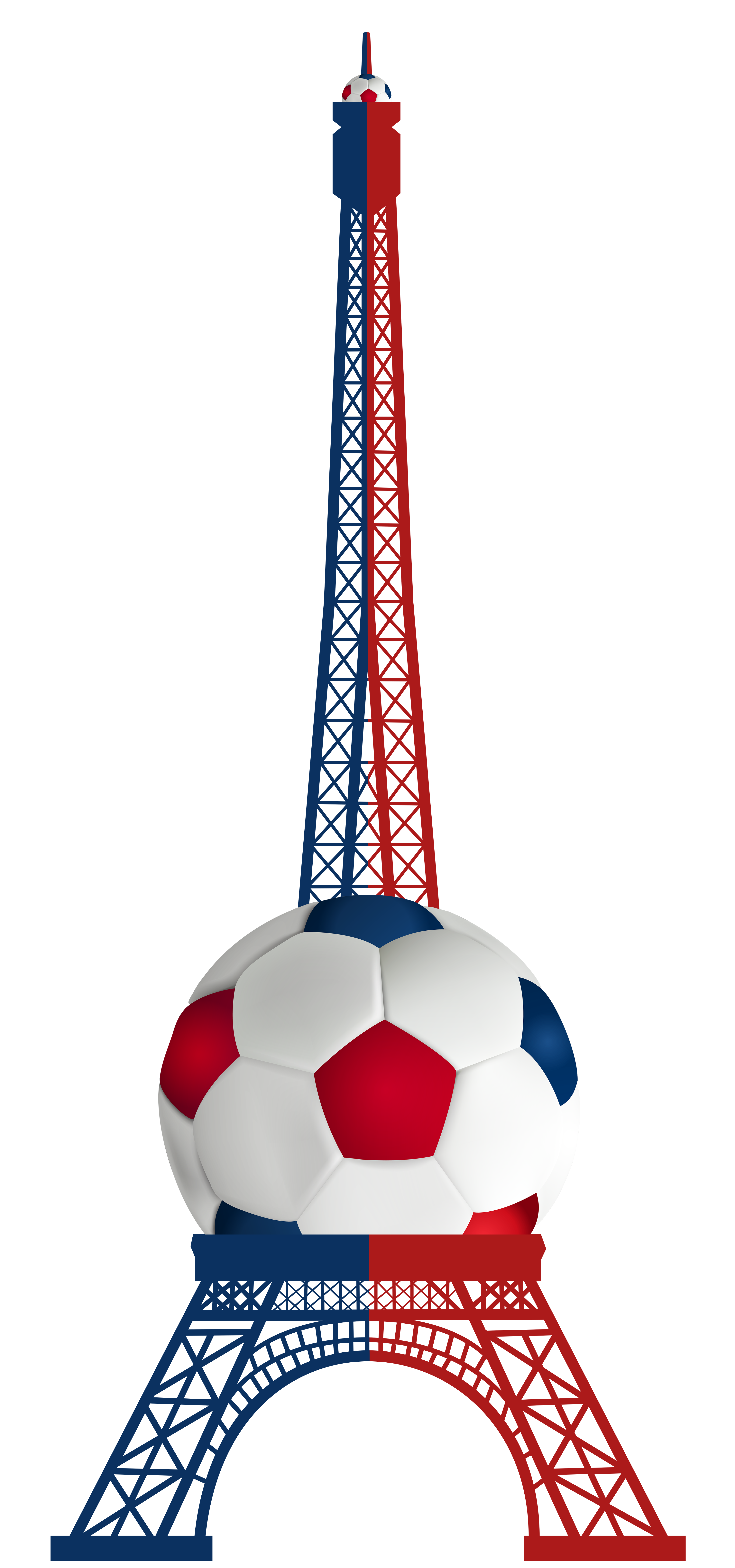 Football 2016 clipart png library library Eiffel Tower Euro 2016 France PNG Transparent Clip Art Image ... png library library