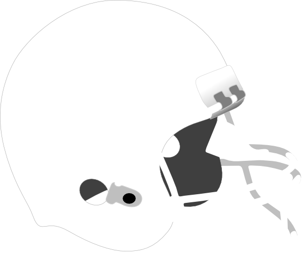 Football helmet clipart black and white. Grey clip art at