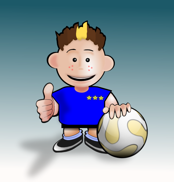 Football animated clipart graphic Kid Soccer Clip Art at Clker.com - vector clip art online, royalty ... graphic