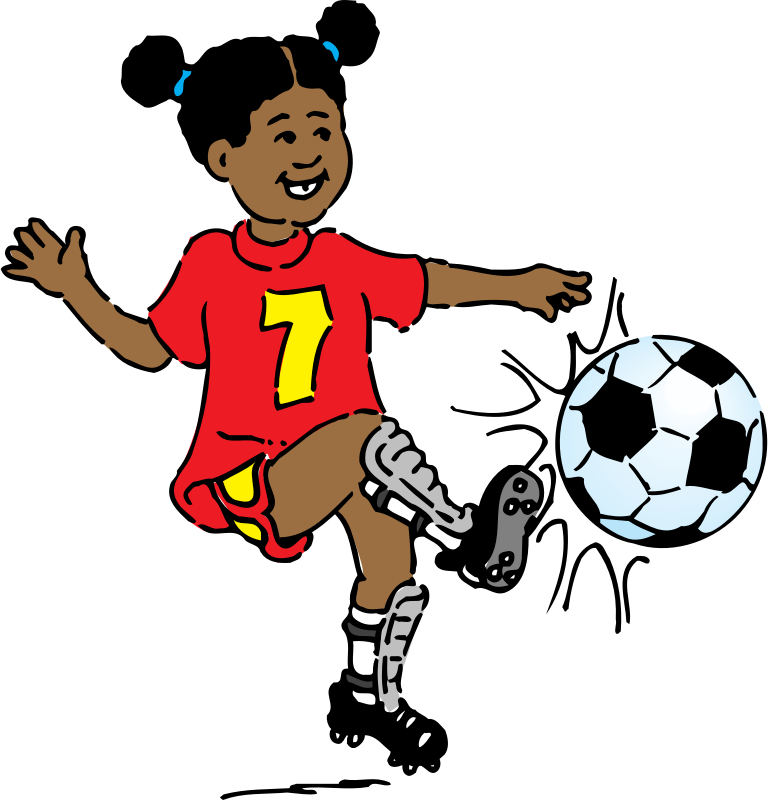 Football animated clipart jpg download Clipart - girl playing soccer jpg download