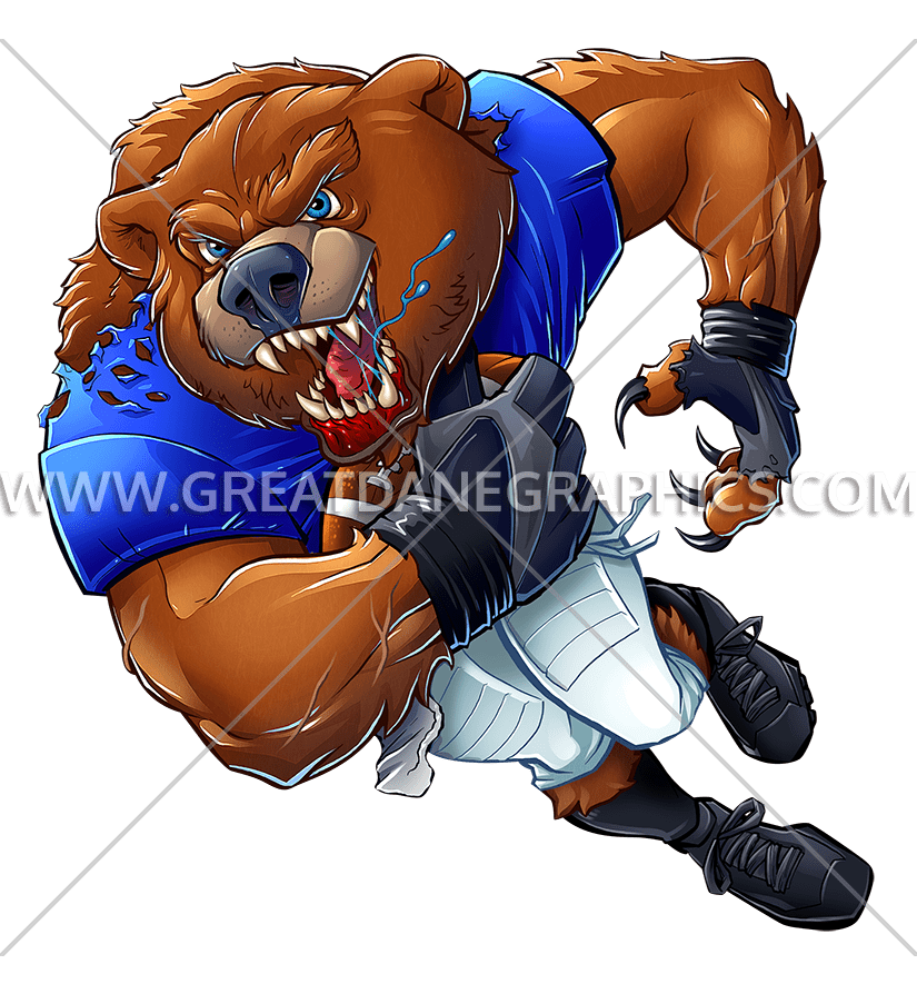 Football bear clipart clip transparent Football Bear | Production Ready Artwork for T-Shirt Printing clip transparent