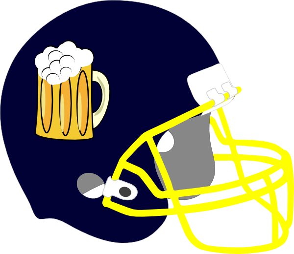 Football beer clipart clip black and white Beer Helmet 2 Clip Art at Clker.com - vector clip art online ... clip black and white