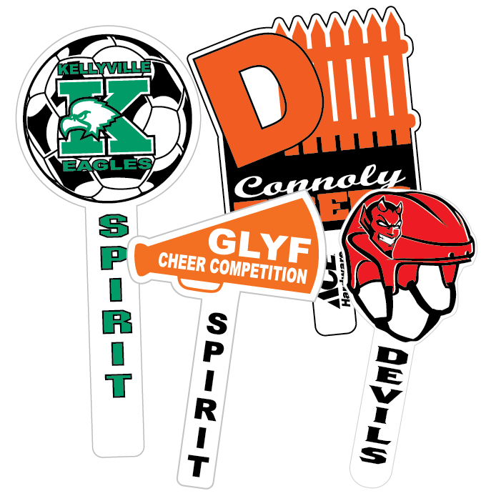 Football bleachers clipart clipart free stock Hand Fans and Spirit Sticks | Pro-Tuff Decals clipart free stock