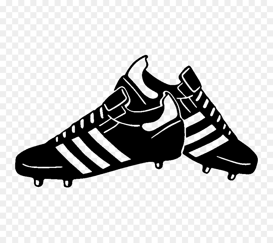 Football boot clipart graphic black and white stock Football Cartoon clipart - Sticker, Wall, Black, transparent clip art graphic black and white stock