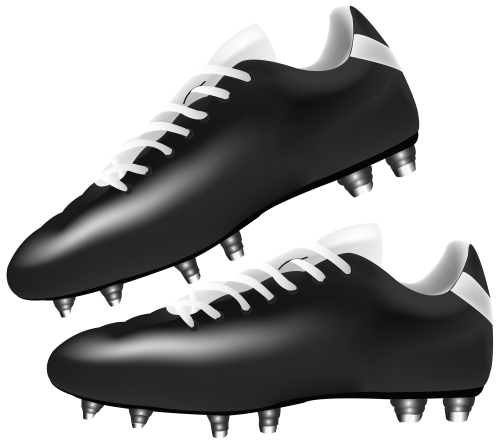 Football boot clipart picture library stock Black Football Boots PNG Clipart - Best WEB Clipart picture library stock