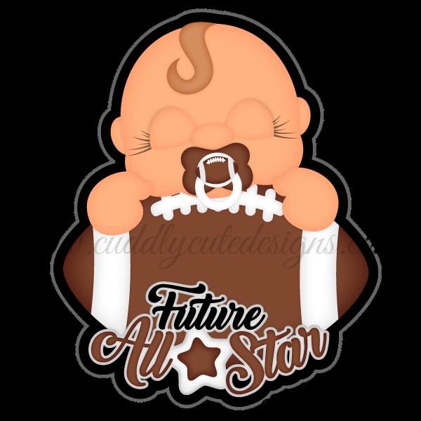 Sports future all star. Football bow clipart