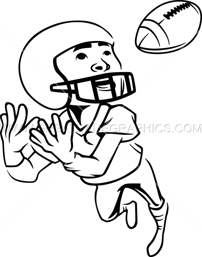 Football catch clipart svg Football Kid Catch | Production Ready Artwork for T-Shirt Printing svg