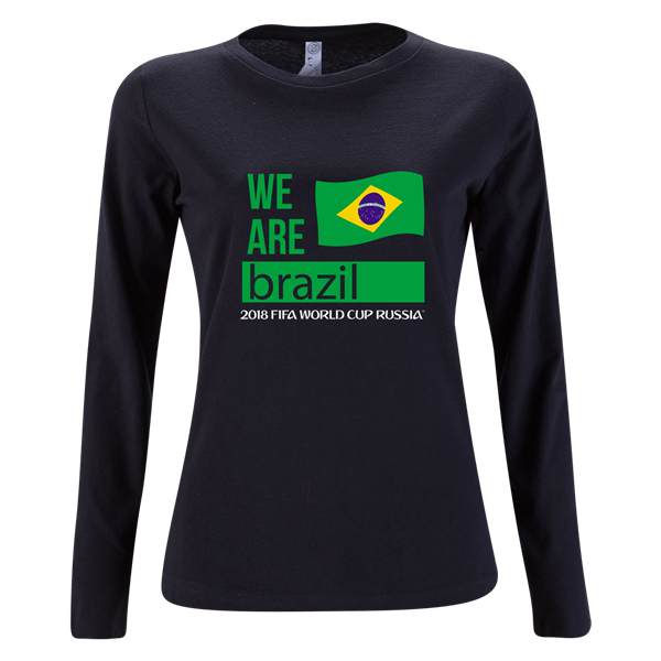 Football championship winners logo for t shirts clipart jpg free stock Brazil 2018 FIFA World Cup Russia™ We Are Brazil Womens LS T-Shirt ... jpg free stock