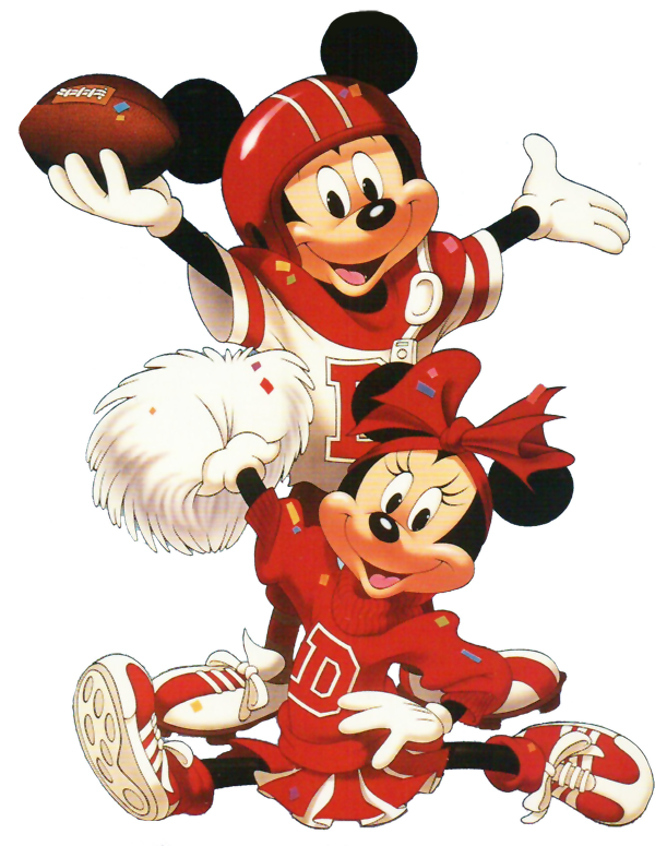 Football characters clipart clip art royalty free Minnie & Mickey│Mouse - #Minnie - #Mickey | cross stich - מיני ... clip art royalty free