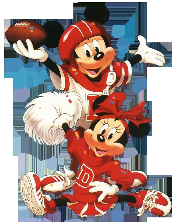 Minnie mickey mouse cross. Football disney clipart