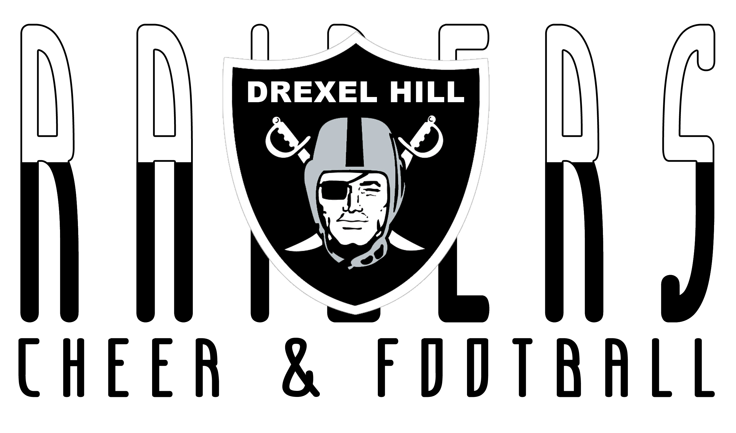 Football field black and white clipart banner download Football Home | Drexel Hill Raiders banner download