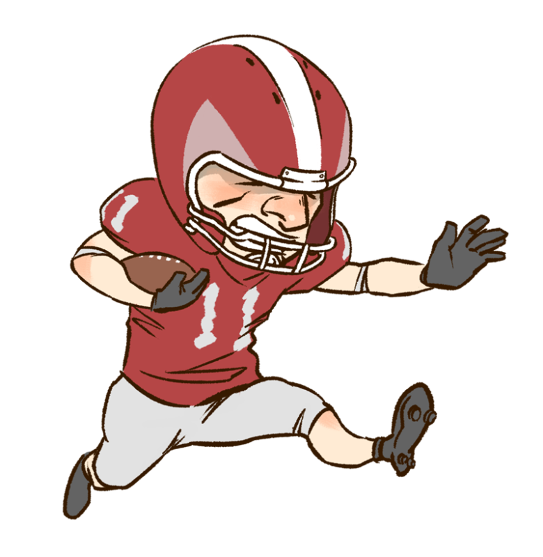 Football clipart with words image freeuse download Football clipart person ~ Frames ~ Illustrations ~ HD images ~ Photo ... image freeuse download
