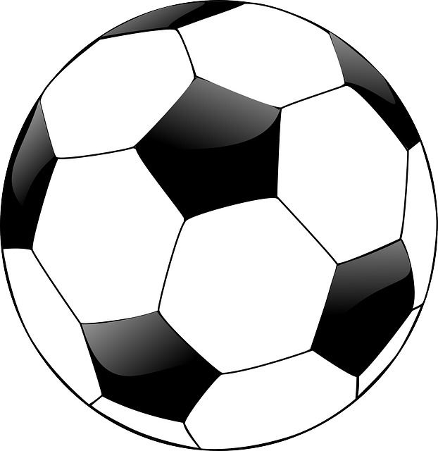 Football post clipart black and white clip black and white Black kids playing football clip black and white