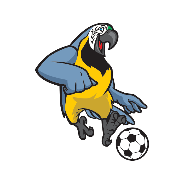 Skull player football clipart vector royalty free stock Printed vinyl Parrot Football Soccer Player | Stickers Factory vector royalty free stock