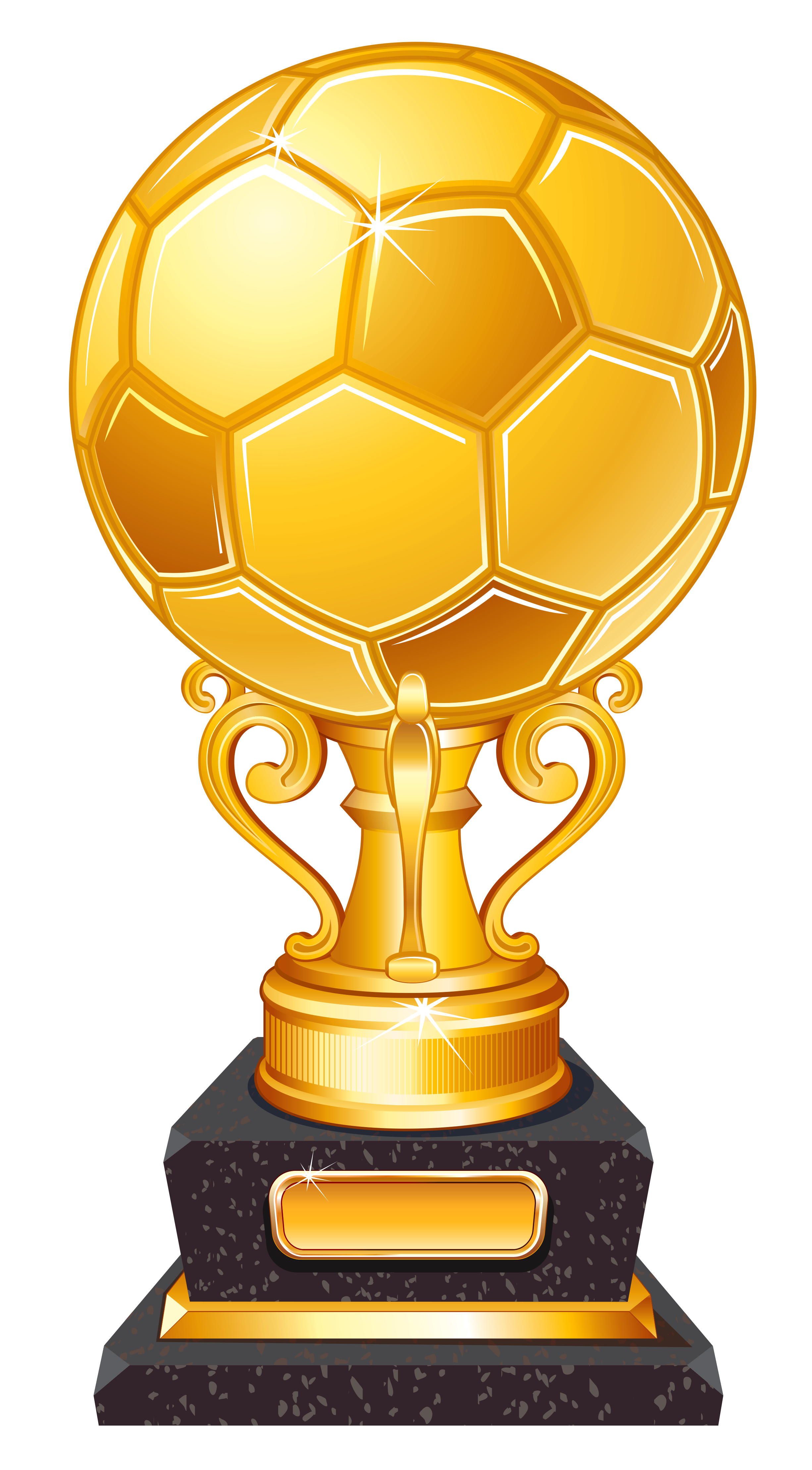 Gold football clipart image freeuse library Gold Football Award Trophy Transparent PNG Clipart | Gallery ... image freeuse library