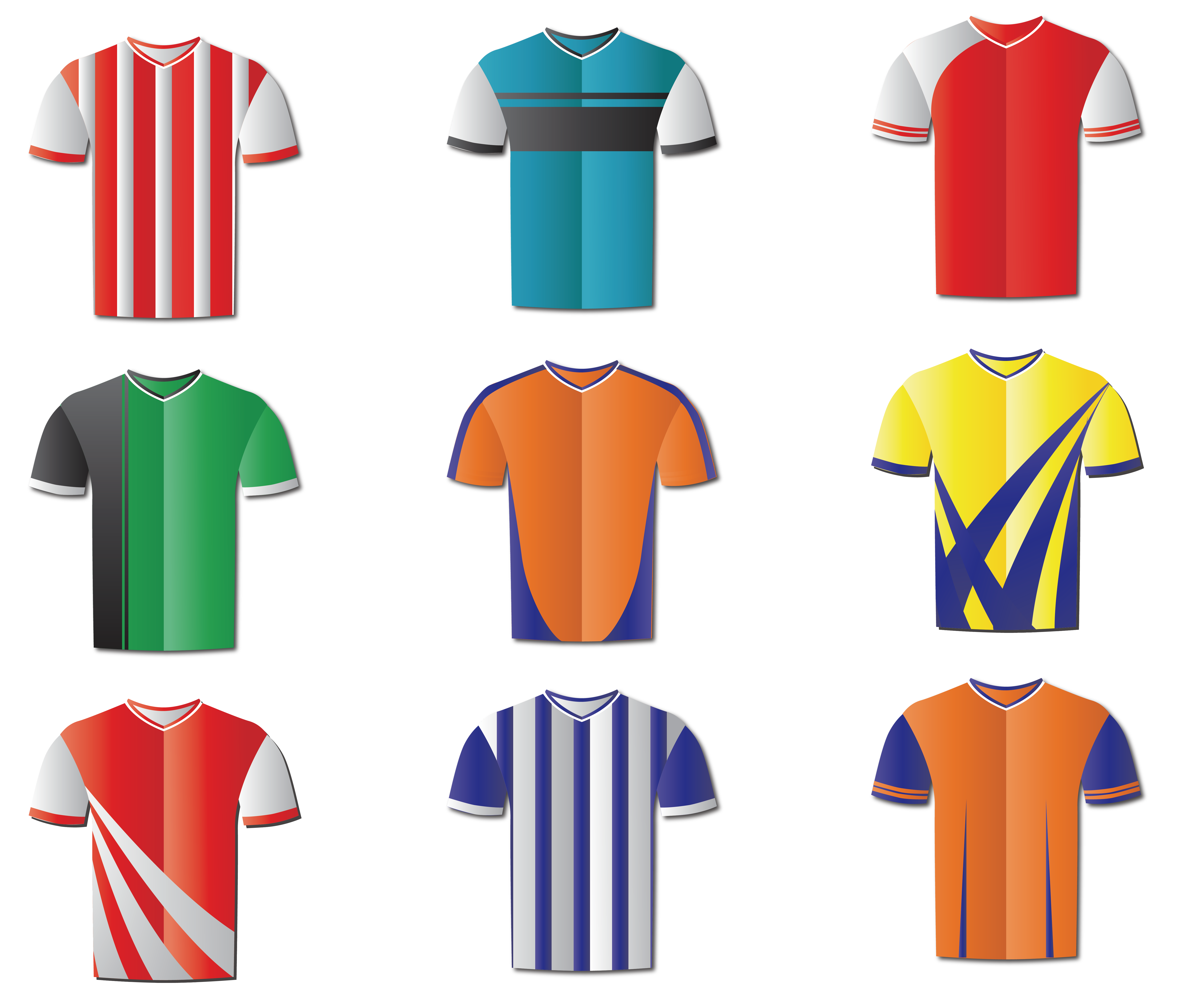 Football clipart for t shirts picture free library T-shirt Jersey Football Sportswear - Different styles of clothing ... picture free library