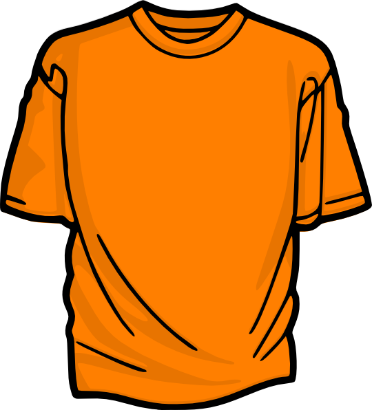 Football clipart for t shirts graphic free download T-shirt-orange Clip Art at Clker.com - vector clip art online ... graphic free download