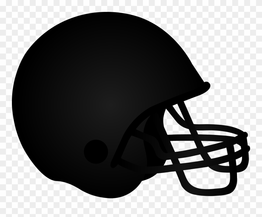 Football clipart helmet clip art royalty free download Black Football Helmet - It\'s The Most Wonderful Time Of The Year ... clip art royalty free download