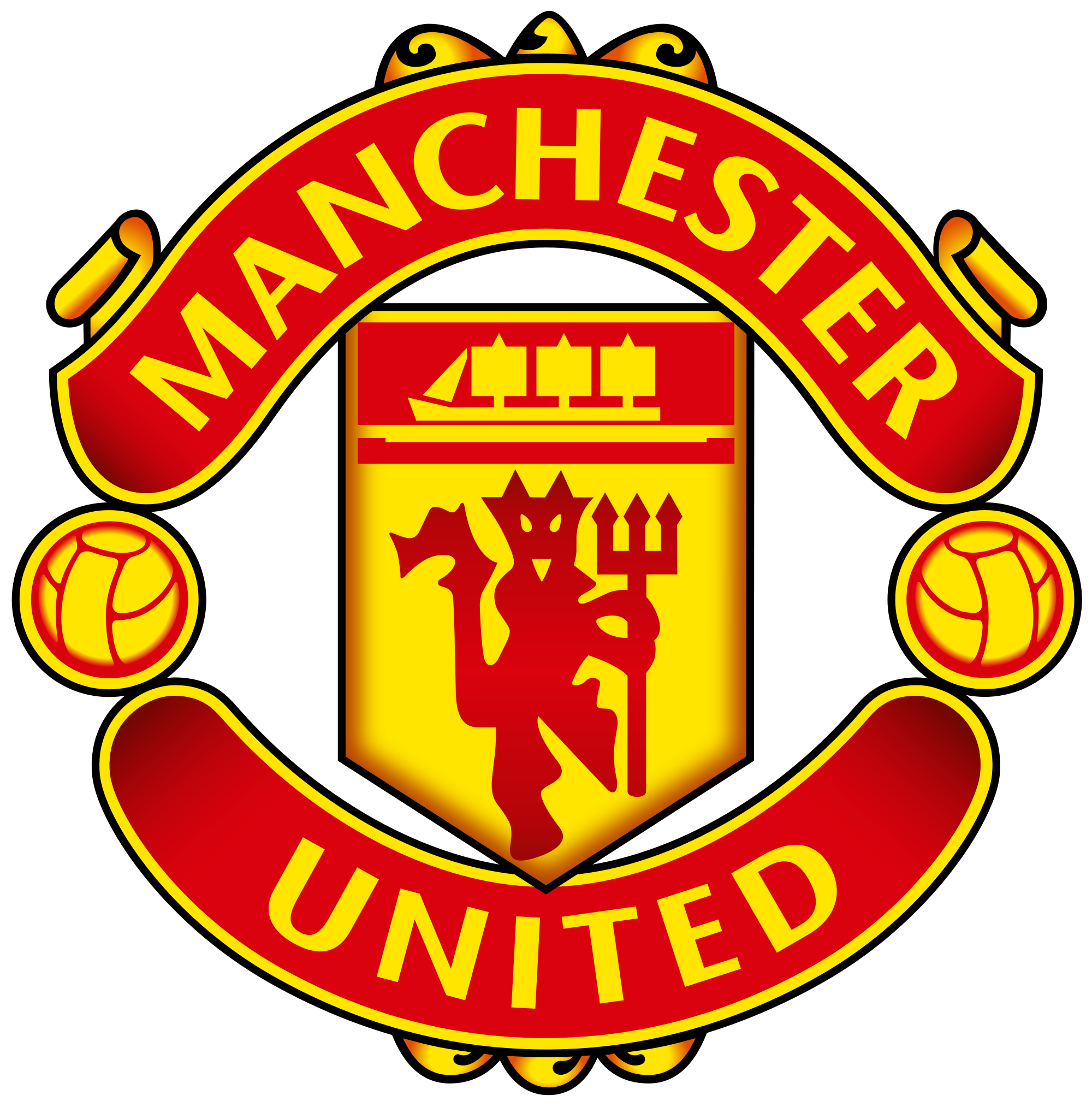 Manchester united club . Football clipart logo