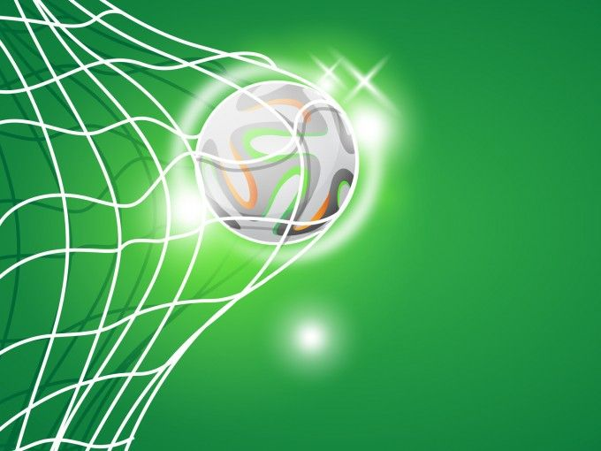Football clipart powerpoint background. This free goal template
