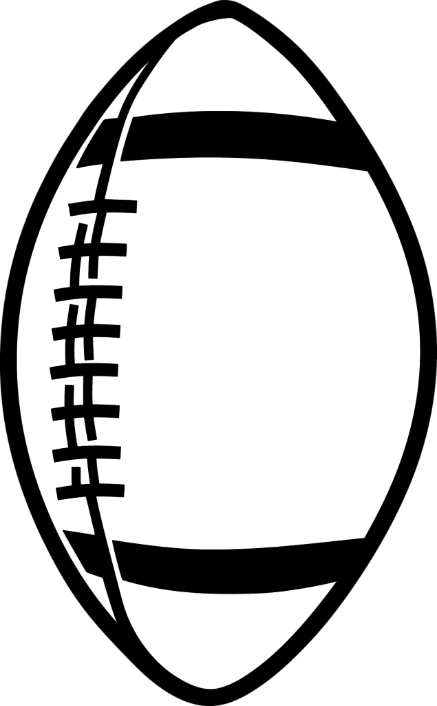 Attractive outline of a. Football clipart simple