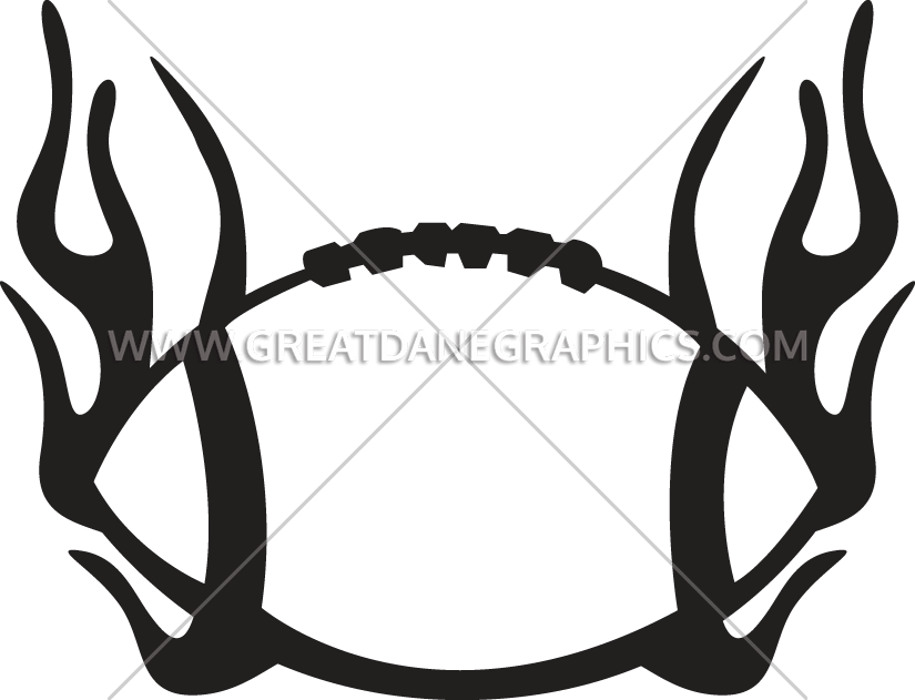 Football clipart with flames png svg black and white Football With Flames | Production Ready Artwork for T-Shirt Printing svg black and white