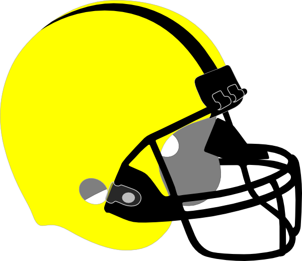 Football equipment clipart. Yellow helmet clip art