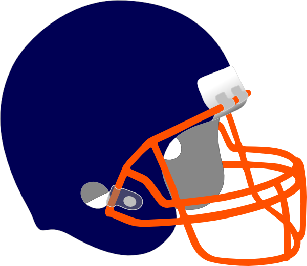 Orange football helmet clipart clipart transparent Football Helmet Clip Art at Clker.com - vector clip art online ... clipart transparent