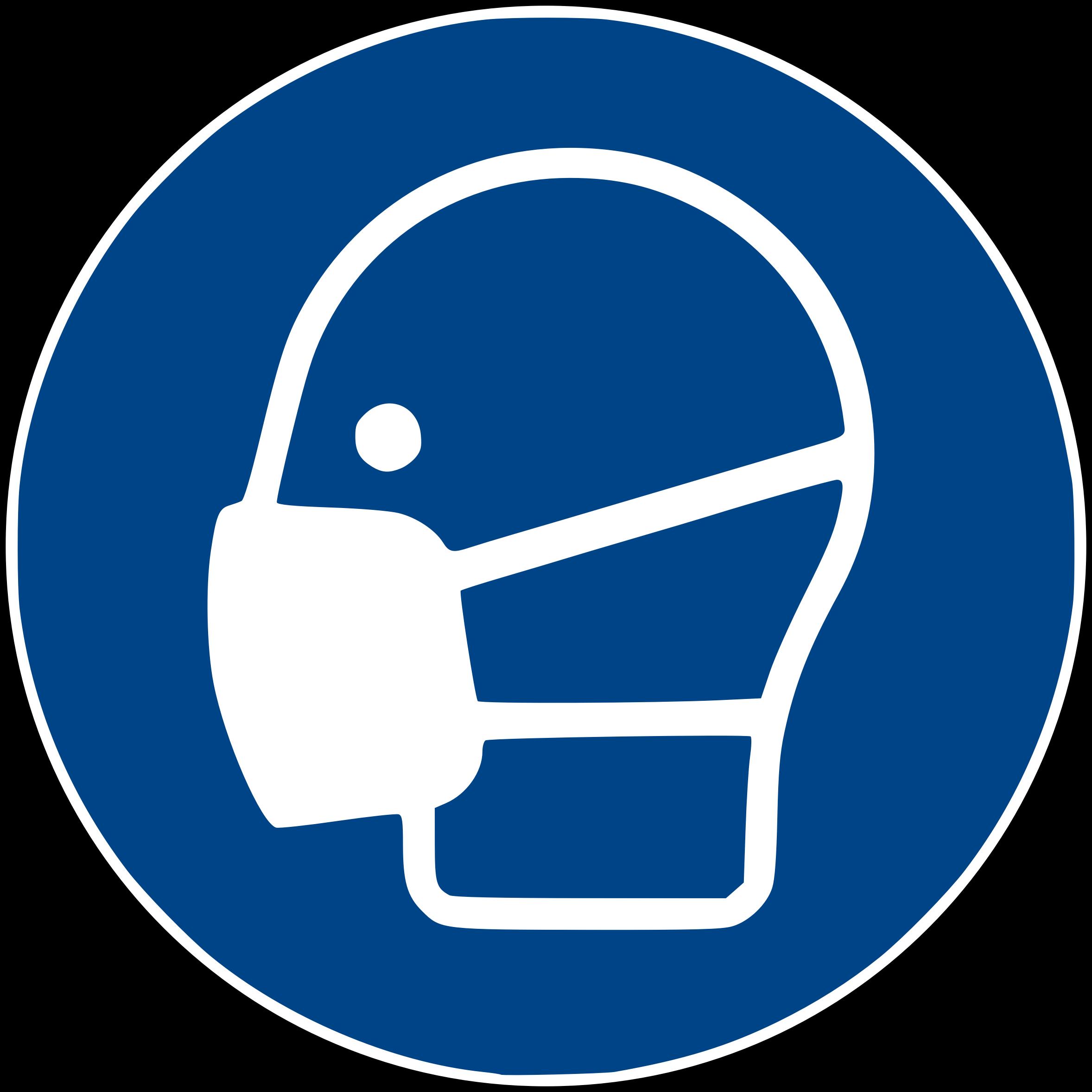 Face mask big image. Football facemask clipart
