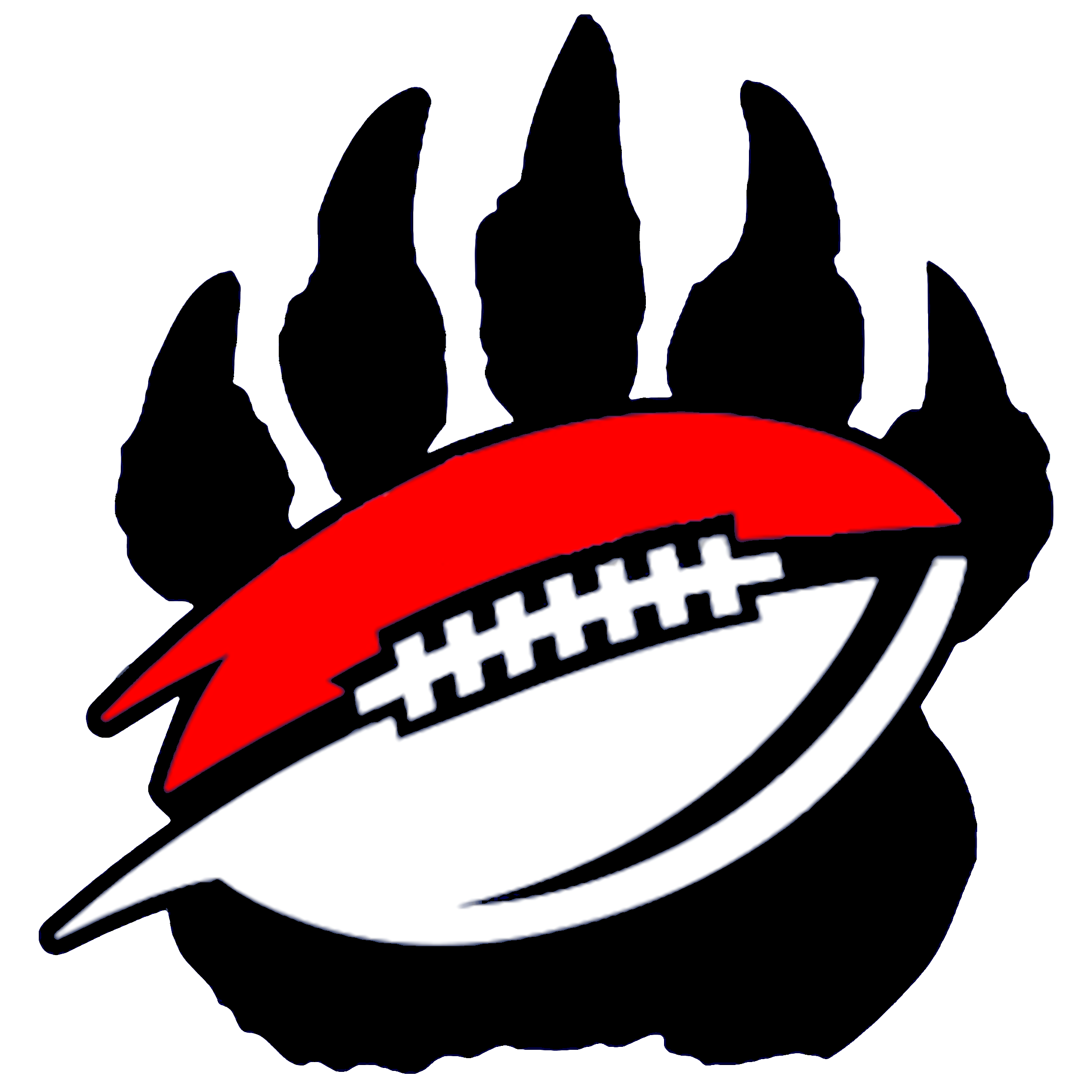 Football vector clipart png transparent Bear Paw And Football Black   Free Images at Clker.com - vector clip ... png transparent