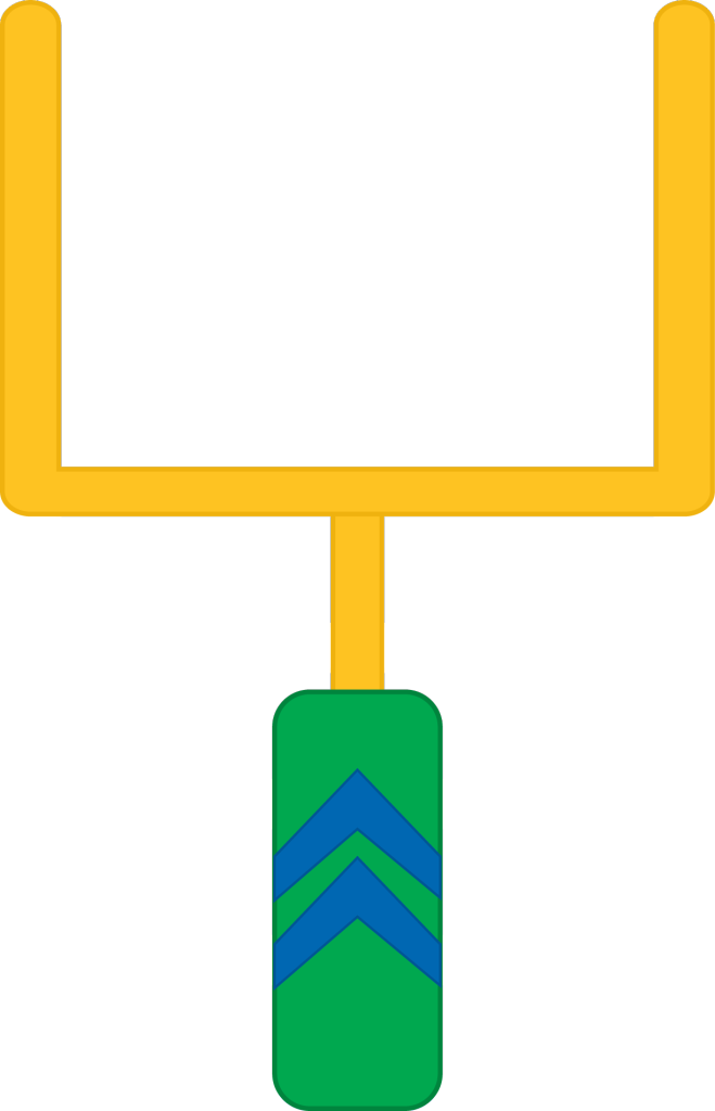 Football field goal post clipart. Clip art vector and