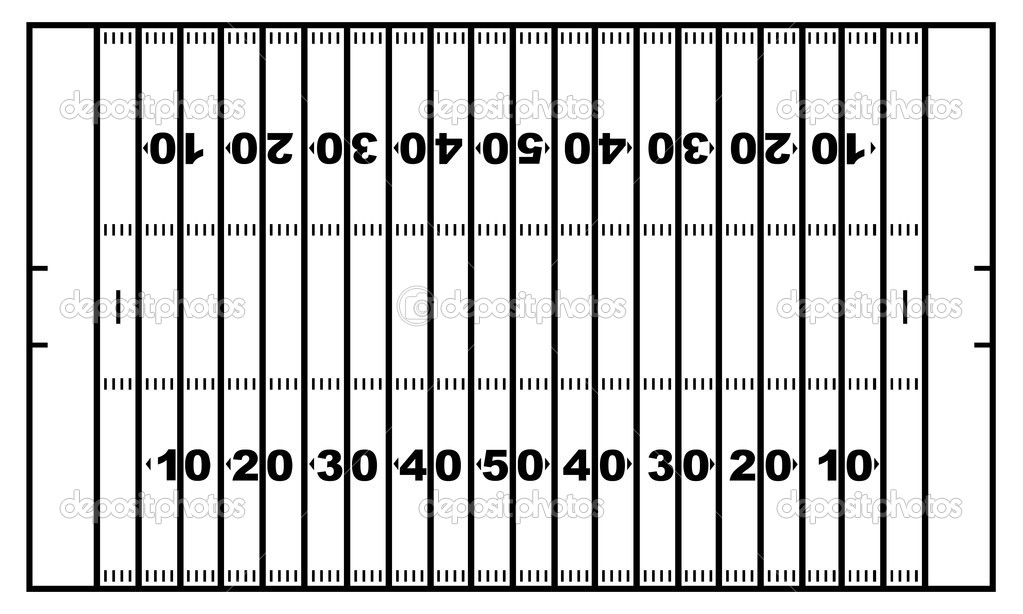 . Football field numbers clipart black and white