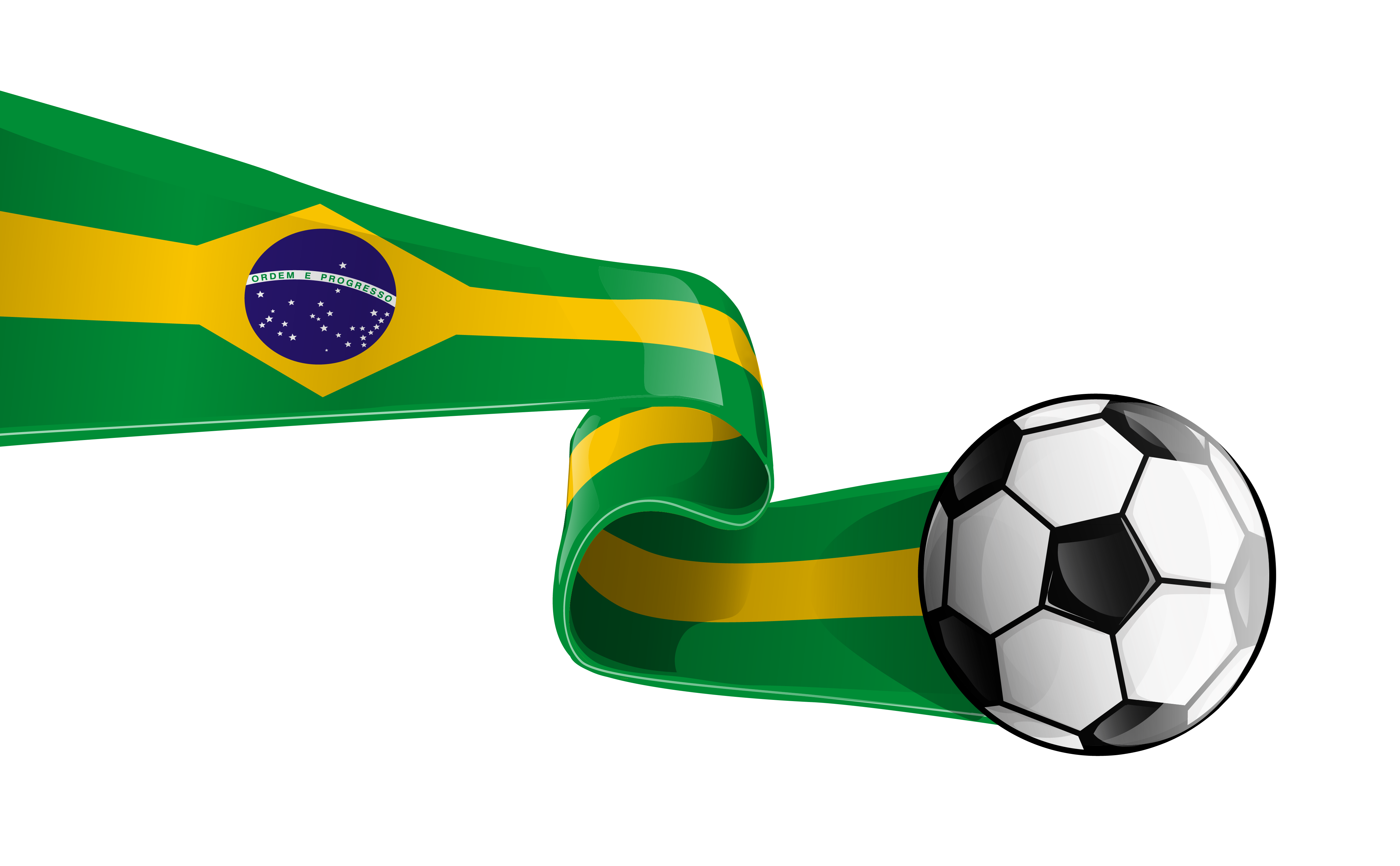 Football flag clipart banner library Brazil Clip art - Soccer Ball with Brazilian Flag Transparent PNG ... banner library