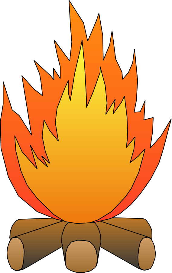Football flames clipart vector library library 28+ Collection of Fire Clipart Images | High quality, free cliparts ... vector library library