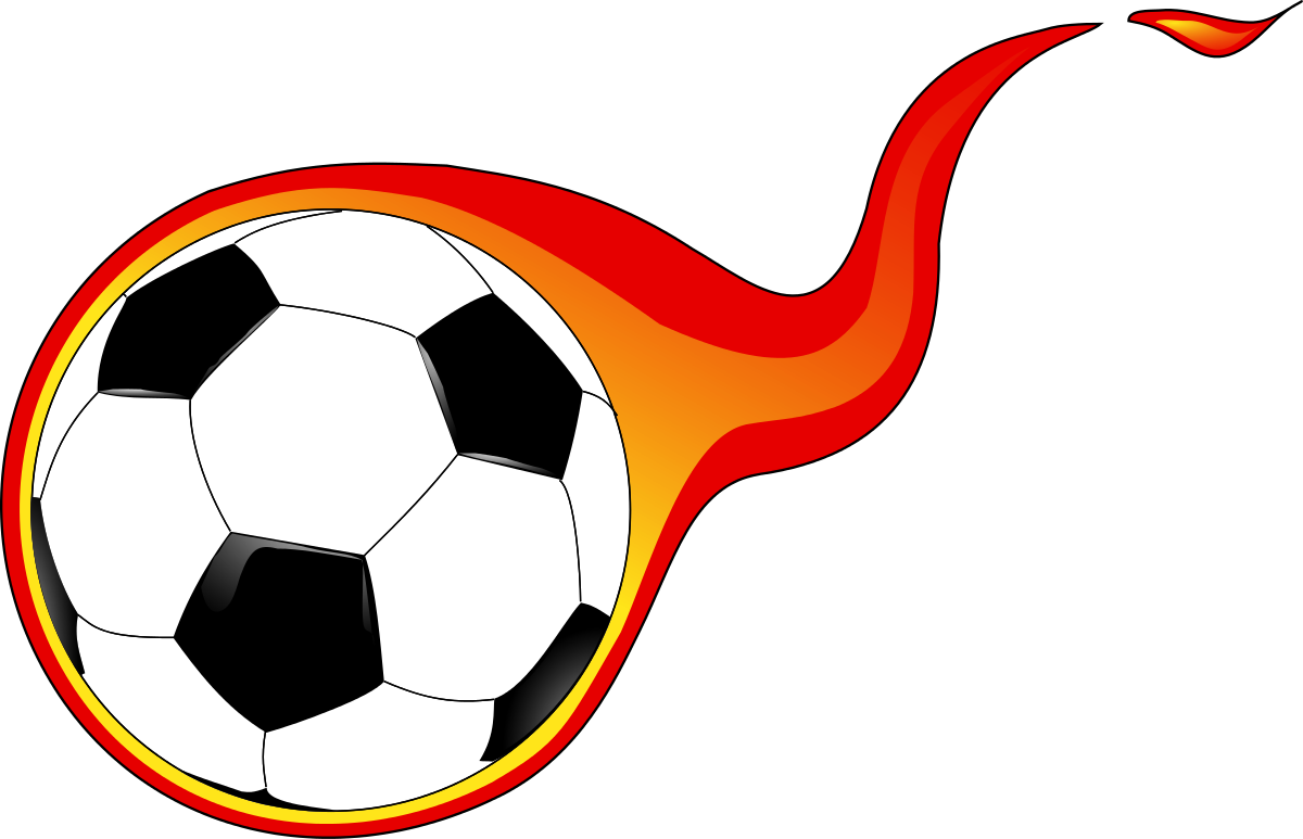 Football flames clipart. Soccer ball with panda