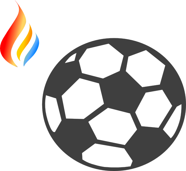 Maron flame logo clip. Football flames clipart
