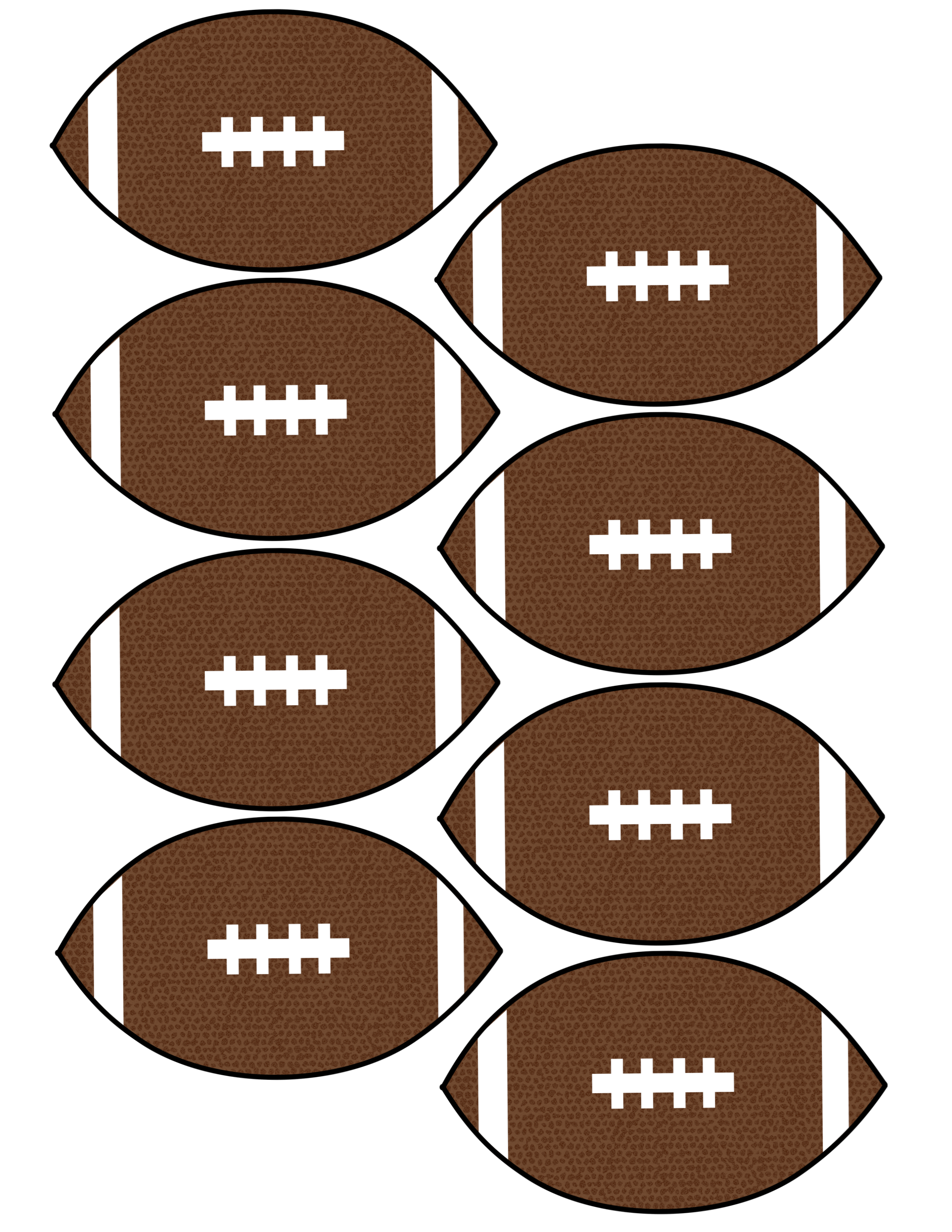 Football garland clipart jpg library library Cheap Super Bowl Decorations {Football Banner} - Paper Trail Design jpg library library