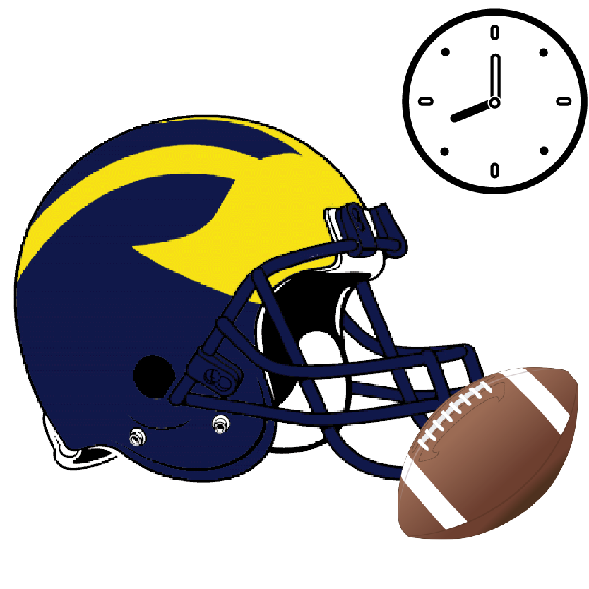 Tough football clipart graphic Michigan Game Day Itinerary — Daytripper University graphic