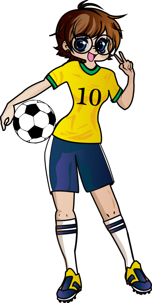 Girl football player clipart picture stock Clipart | i2Clipart - Royalty Free Public Domain Clipart picture stock