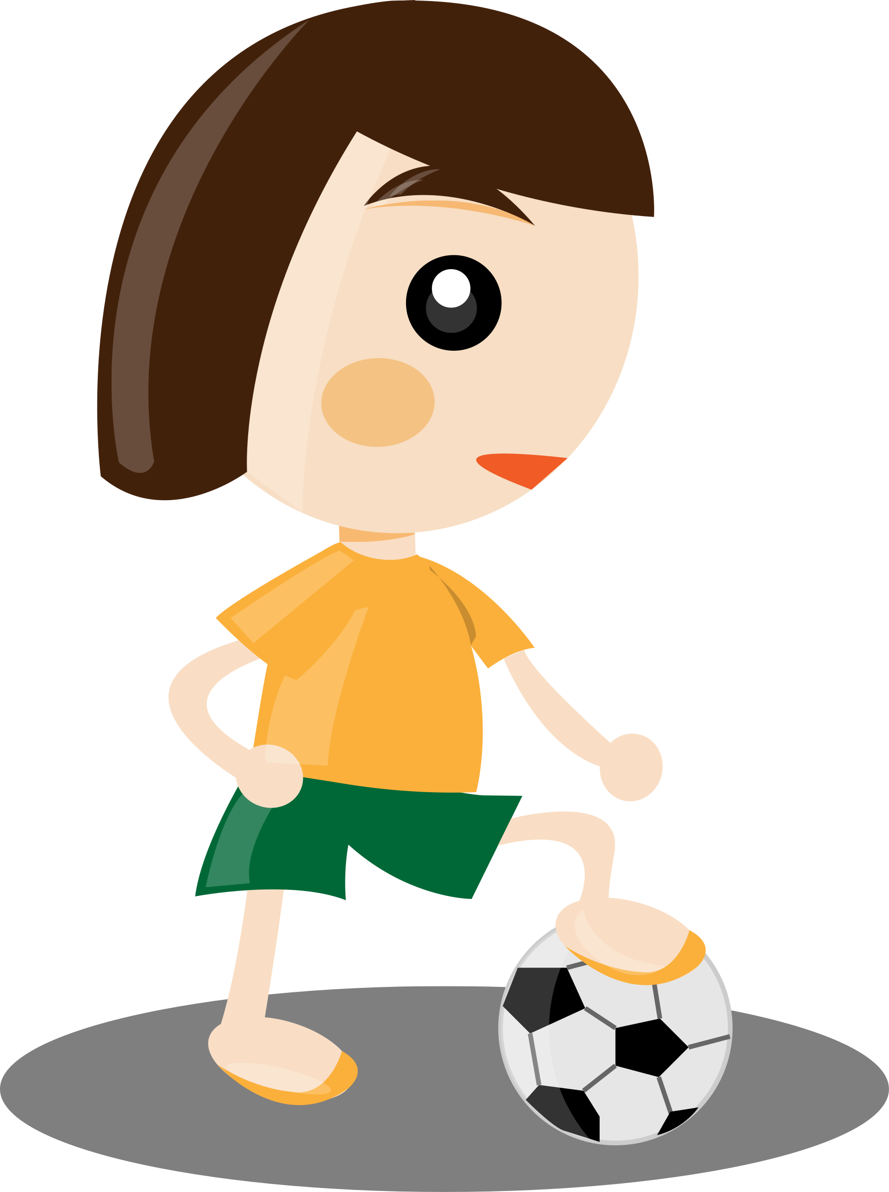 Girl football player clipart vector black and white library Clipart - Sport girl vector black and white library
