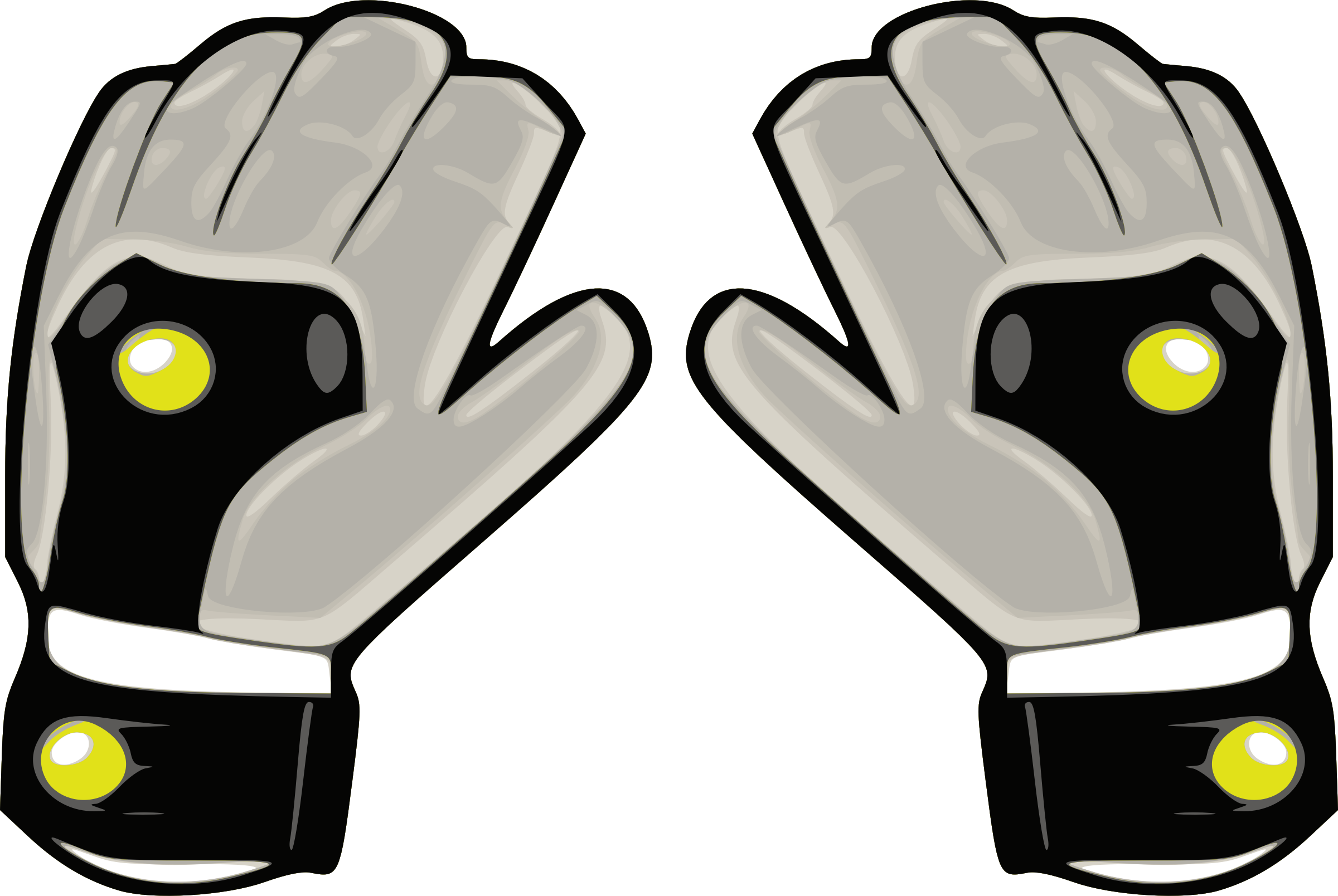 Football glove clipart graphic library download Clipart - Gloves 3 graphic library download