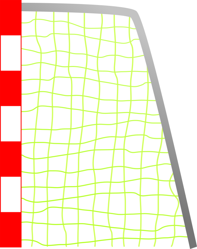 Image of soccer goal. Football goals clipart