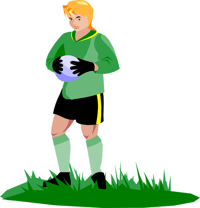 Man playing collection free. Football graphic clipart
