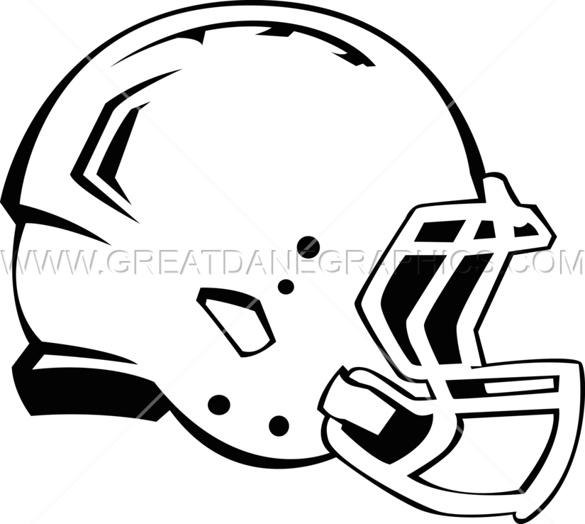 Football helmet clipart side black and white library Football Helmet Side | Production Ready Artwork for T-Shirt Printing black and white library
