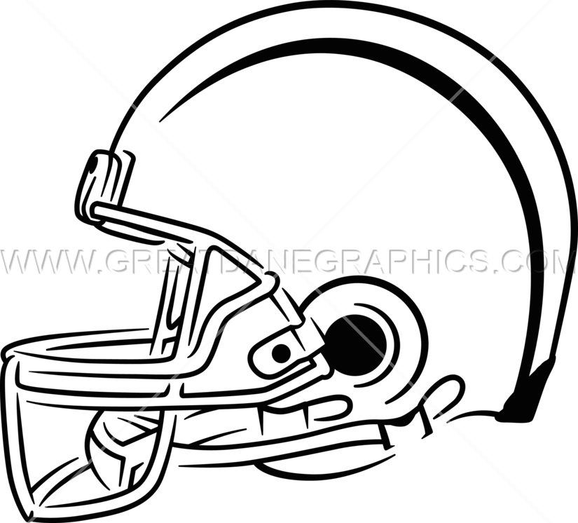 Football helmet clipart black and white clip freeuse Side Football Helmet | Production Ready Artwork for T-Shirt Printing clip freeuse