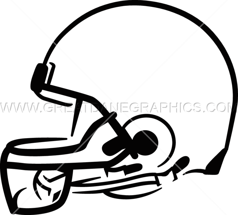 Football helmet clipart side image royalty free Side Football Helmet | Production Ready Artwork for T-Shirt Printing image royalty free