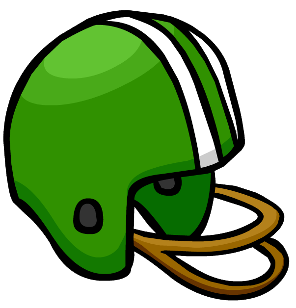 Football helmets clipart green. Helmet club penguin wiki